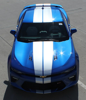 Front view of SS Super Sport Chevy Camaro Stripes TURBO RALLY 2016-2018