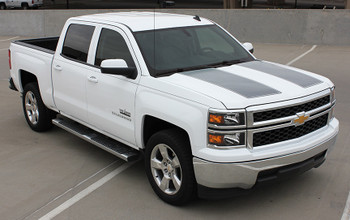 Front View of Chevy Silverado Rally Stripes 1500 RALLY  STRIPES 2014-2015