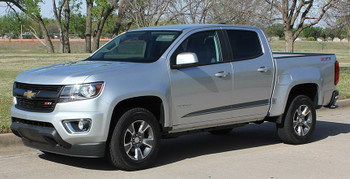 Profile of 2019 Chevy Colorado Extended Cab Stripes RATON 2015-2020