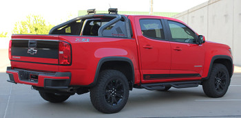 Profile view of 2018 GMC Canyon Side Decals RAMPART 2015 2016 2017 2018 2019