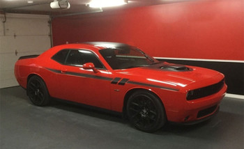 Red 2018 Dodge Challenger Side Decals FURY 2011-2019 2020