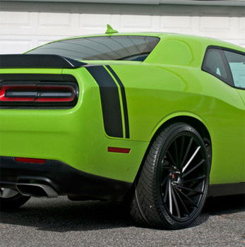 Green 2017 Dodge Challenger Rear Graphics TAIL BAND 2015-2021