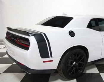 Rear of White Stripes for Rear Stripes for Dodge Challenger TAIL BAND 2015-2021