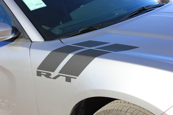 Side View of 2019 Charger Fender Stripes CHARGER 15 DOUBLE BAR 2011-2020 2021