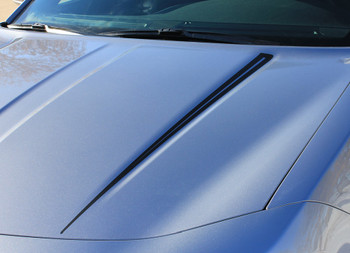 Rear View of 2015 Dodge Charger Vinyl Graphics RIVE KIT 2015-2020
