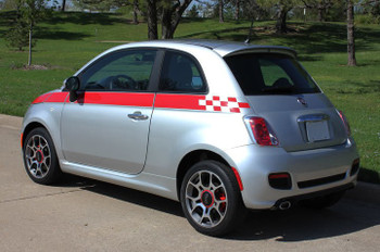 Fiat 500 Custom Side Stripe Graphics 3M SE5 CHECK 2012-2019