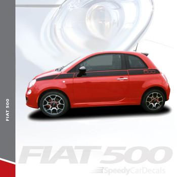 SE 5 : 2011-2016 Fiat 500 Upper Door Accent Striping Abarth Vinyl Graphics Stripes Decals Kit