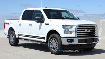 White 2017 Ford F150 Decals 150 BREAKUP ROCKER 2015-2020