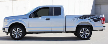 Side View of 2018 Ford F150 Stripes ROUTE RIP 2015 2016 2017 2018 2019 2020