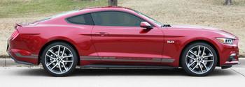 Ford Mustang Rocker Panel Door Side Stripes Decals HASTE 15-2018