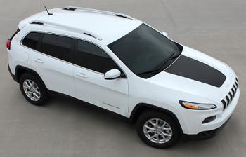 Jeep Cherokee Trailhawk Hood Decals T-HAWK 3M 2014-2017
