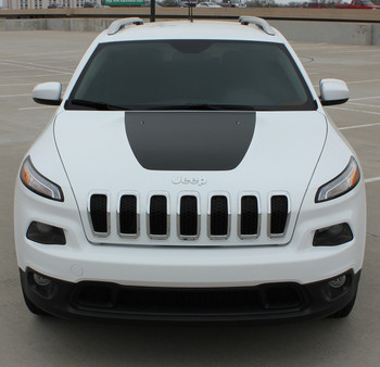 2017 Jeep Cherokee Trailhawk Hood Stripes T-HAWK HOOD 2014-2017