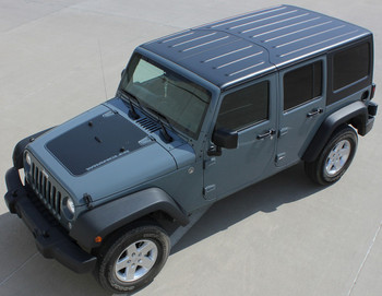 Jeep Wrangler Hood Decal Graphics OUTFITTER 3M 2008-2018
