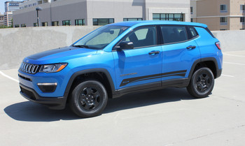 Side of Blue 2019 Jeep Compass Stripes COURSE ROCKER 2017-2020