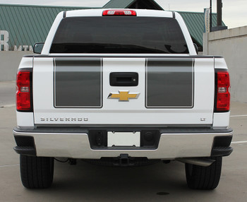 Rear View of 2015 Chevy Silverado Rally Stripes 1500 RALLY 2013 2014 2015