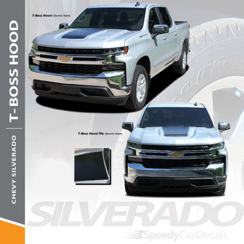 2019 Chevy Silverado Hood Decals Stripes T-BOSS HOOD Wet and Dry Install