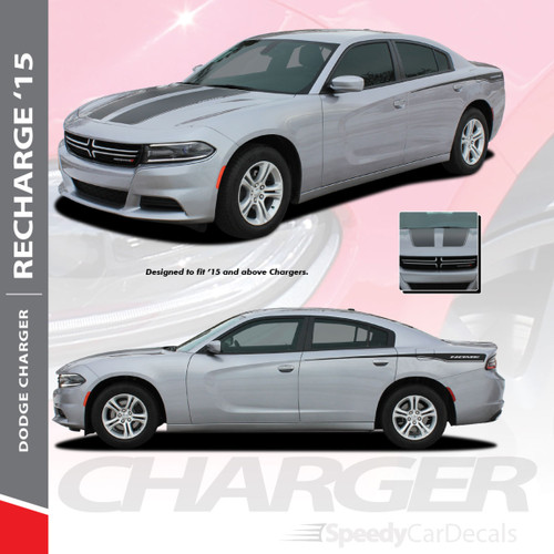Recharge 15 Hood Dodge Charger Stripe Design 3m 2015 2019 Premium
