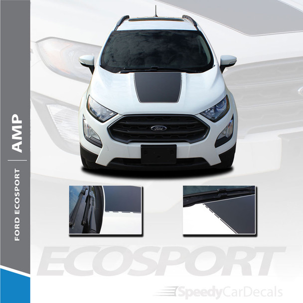 Ford EcoSport Center Hood Vinyl Graphics AMP HOOD 3M 2013-2020 Premium and Supreme Install