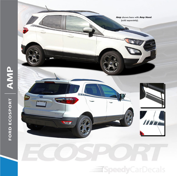 Ford EcoSport Side Door Stripes Vinyl Graphics AMP SIDES 3M 2013-2020 Premium and Supreme Install