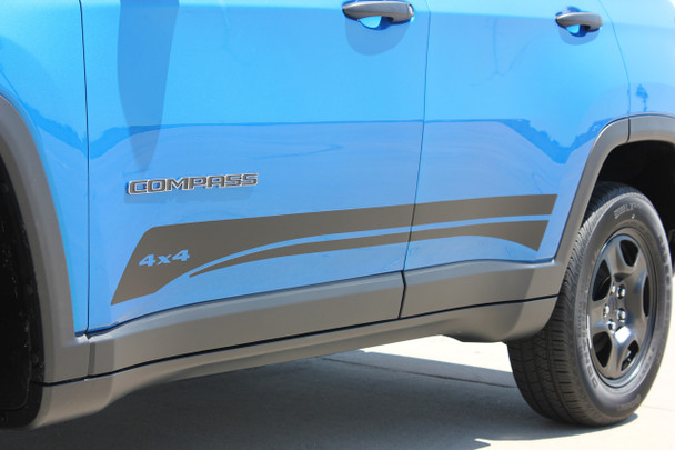Low side of 2018 Jeep Compass Graphics COURSE ROCKER 2017-2020 2021