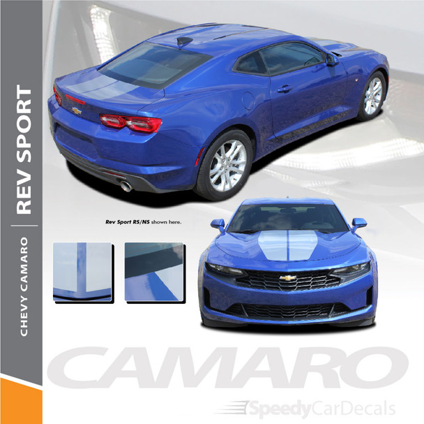 2020 2019 Chevy Camaro Center Stripes REV SPORT 2019-2020 Premium and Supreme Vinyl (SCD-6227)
