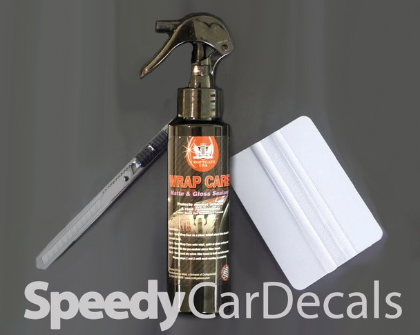 Basic Install Kit with Snap Knife, Plastic Squeegee, and sample Wrap Care Fluid