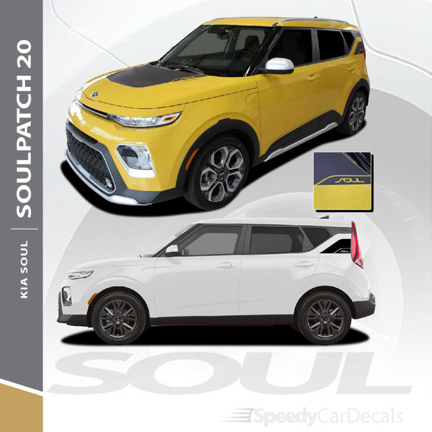 2020 Kia Soul Hood Graphic and Rear Body Decal SOULPATCH 20 3M Premium and Supreme Install Vinyl