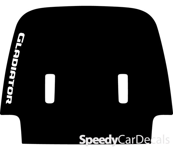 2020 Jeep Gladiator Hood Decals SPORT HOOD with Text 3M or Avery Supreme or 3M 1080 Wrap Vinyl