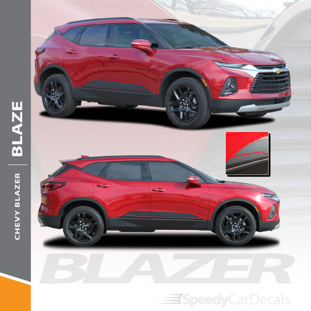 Chevy Blazer Body Decals BLAZE Vinyl Graphic Stripes 2019 2020 2021 Premium and Supreme Install Vinyl