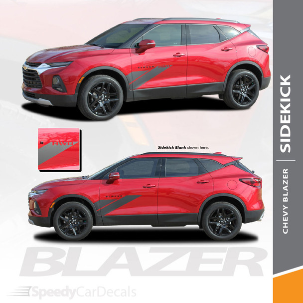 Chevy Blazer Side Stripes Decals SIDEKICK Vinyl Graphic Kits 2019 2020 2021 Premium Auto Striping Vinyl (SCD-6819)