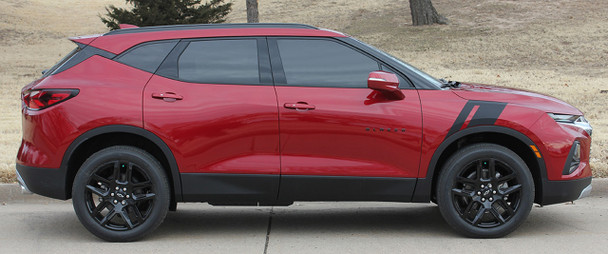Profile angle of TORCH HASHMARK | 2019-2020 2021 Chevy Blazer Fender Stripes