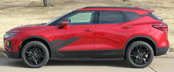 Side profile view of SIDEKICK | 2019-2021 Chevy Blazer Door Stripes Decals Graphics
