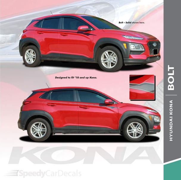 Digital and Solid  2020-2021 Hyundai Kona Side Decals BOLT KIT