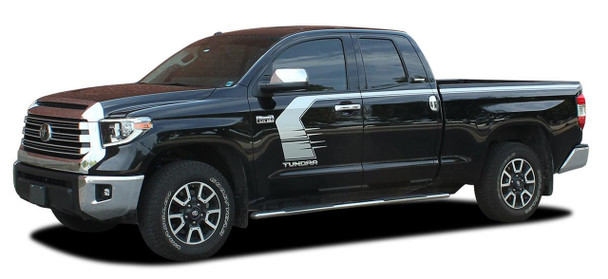 Side View of 2020 Toyota Tundra Side Door Stripes TEMPEST 2015-2021