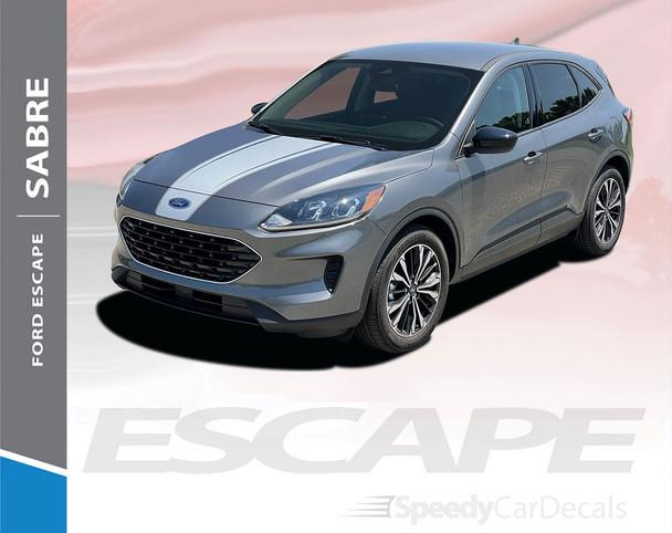2021 2022 Ford Escape Hood Stripe Decals Vinyl Graphics SABRE HOOD