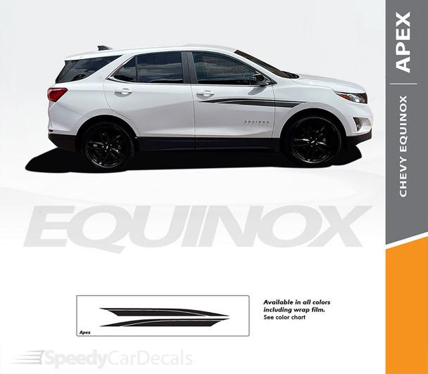 Details for Chevy Equinox Door Stripes Decals APEX Vinyl Graphic Kits 2018-2022 Premium Auto Vinyl Decals