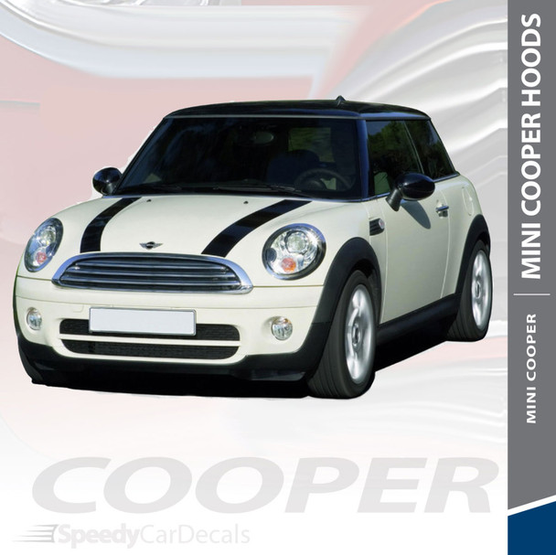 COUNTRYMAN   Mini Cooper Racing Hood Decals 2010-2016 3M Wet Install and Avery Dry Install
