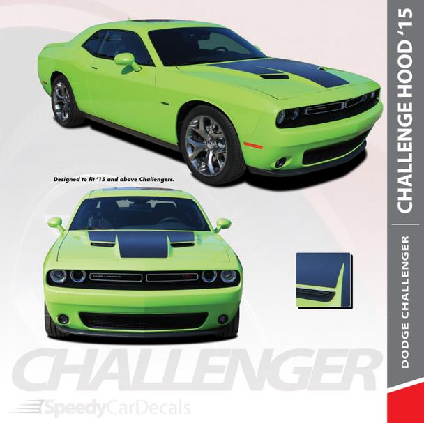 HOOD 15 : 2015-2018 2019 2020 2021 Dodge Challenger Factory OE Factory Style R/T Hood Vinyl Graphics Stripe Decals Kit