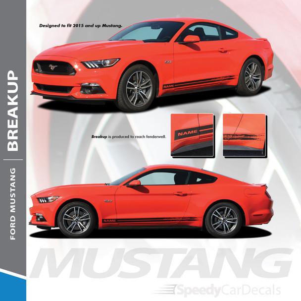 Mustang GT Rocker Fading Stripes 15 BREAKUP 2015-2017 2018 Premium  Installation