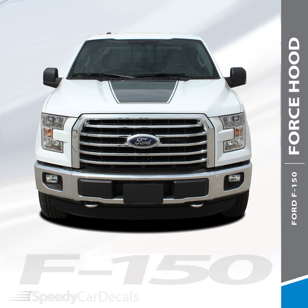 """FORCE HOOD SOLID : 2015-2018 Ford F-150 Hood """"Appearance Package Style"""" Vinyl Graphic Solid Color Decal Kit"""