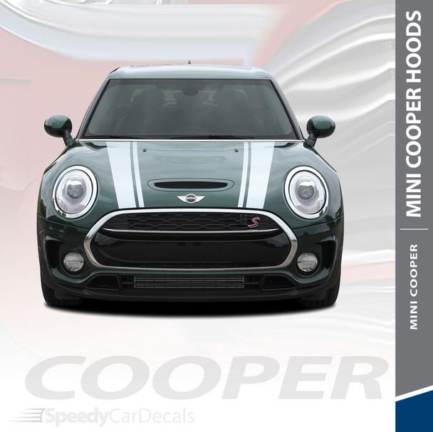 CLUBMAN S-TYPE HOOD : 2016-2018 Mini Cooper Hood Stripes Vinyl Graphics Kit