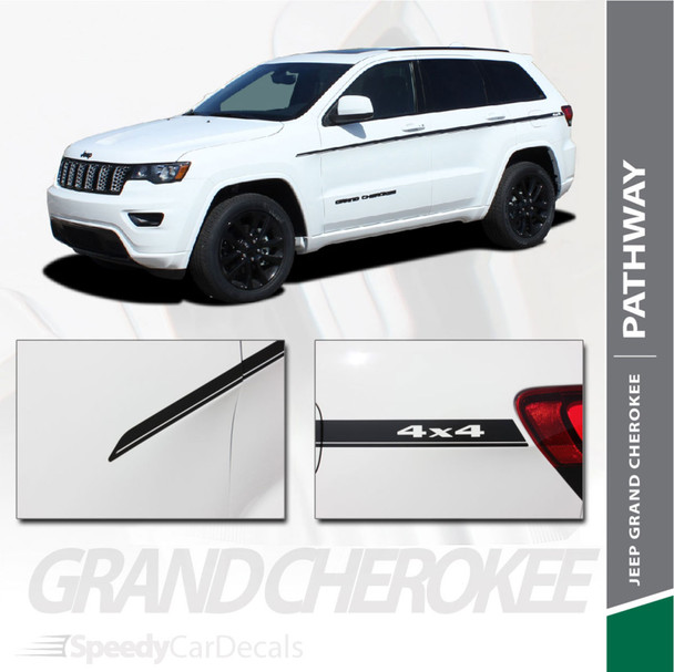 PATHWAY SIDES : 2011-2021 Jeep Cherokee Side Door Vinyl Graphics Decal Stripe Kit