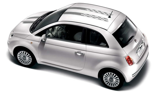 Fiat 500 Hood and Roof Stripes 3M CHECKERED RALLY 2012-2018 2019