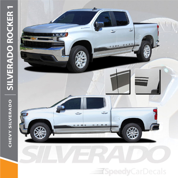 Chevy Silverado Side Decals Stripes ROCKER 1 2019 Wet and Dry Install