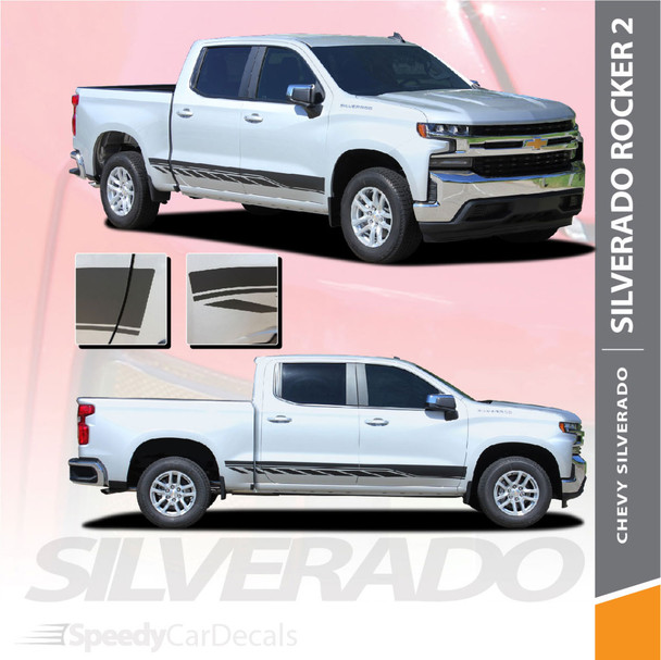 Chevy Silverado Side Decals Stripes ROCKER 2 2019 Wet and Dry Install