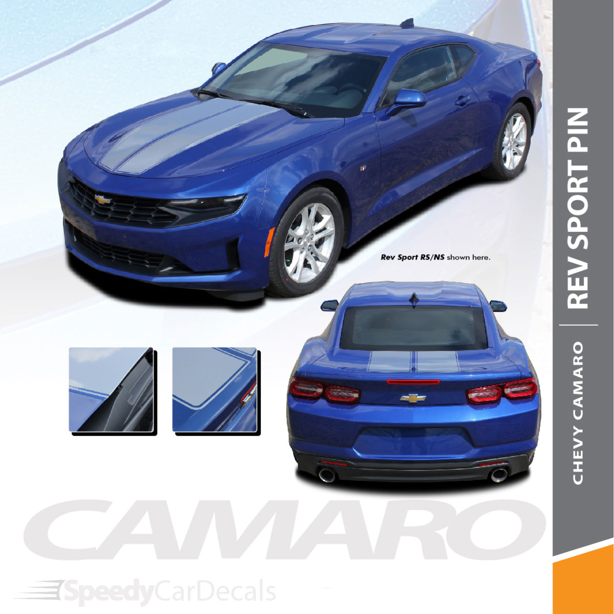 2020 2019 Chevy Camaro Duel Rally Stripes Rev Sport Pin