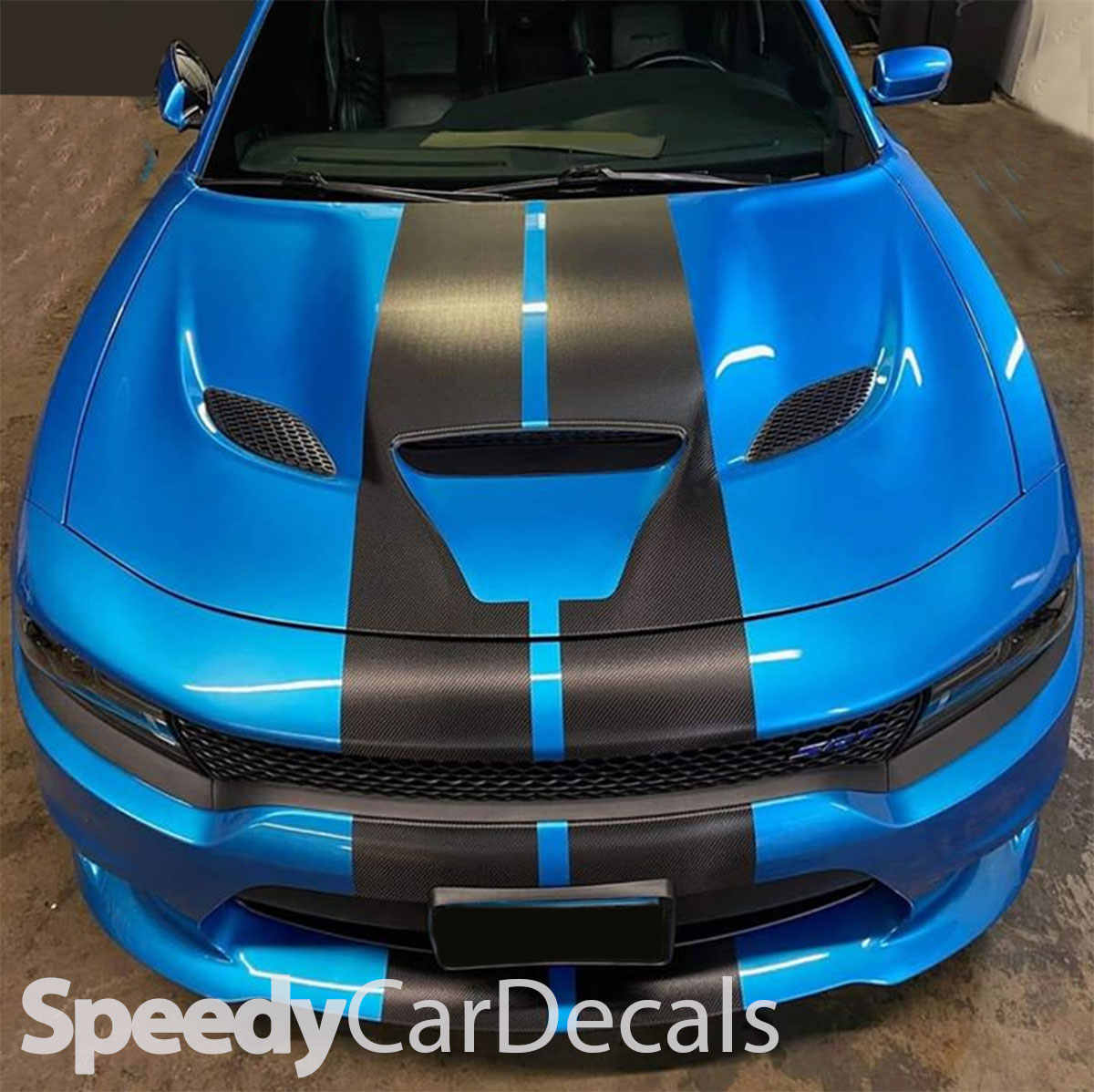 Dodge Challenger CARBON FIBER Rally Stripes 2015 2016 2017 2018 2019 Pro Motor