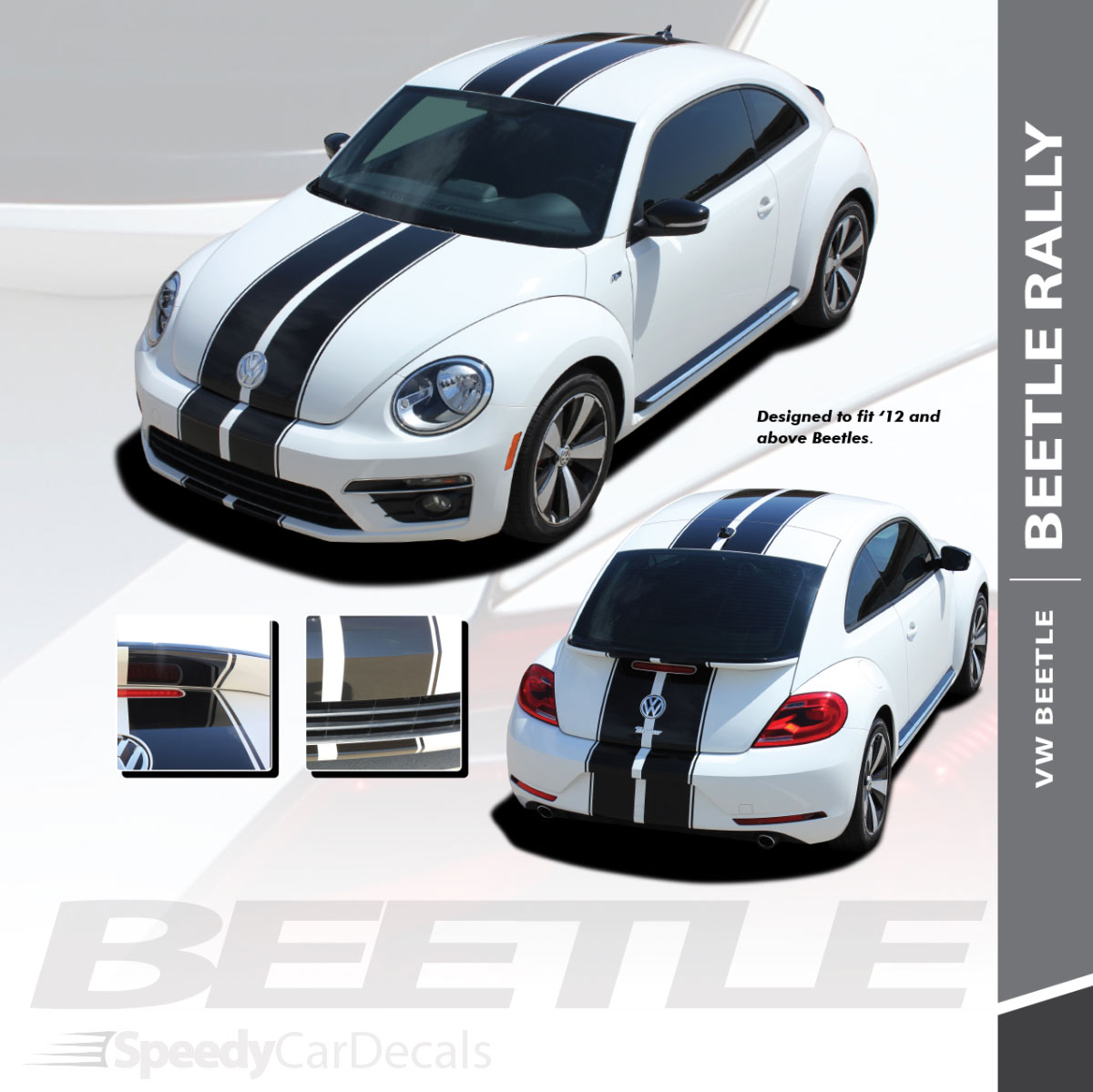 vw beetle stripe decals beetle rally vinyl graphics 2012 2018 3m wet
