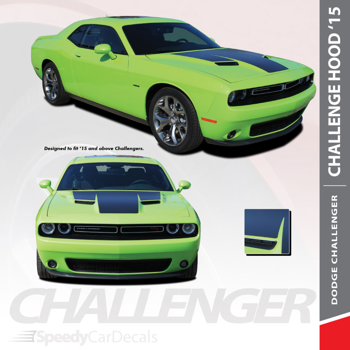 Dodge Challenger Factory Style Dual Side Stripes Decals 2015 2016 2017 2018 2019