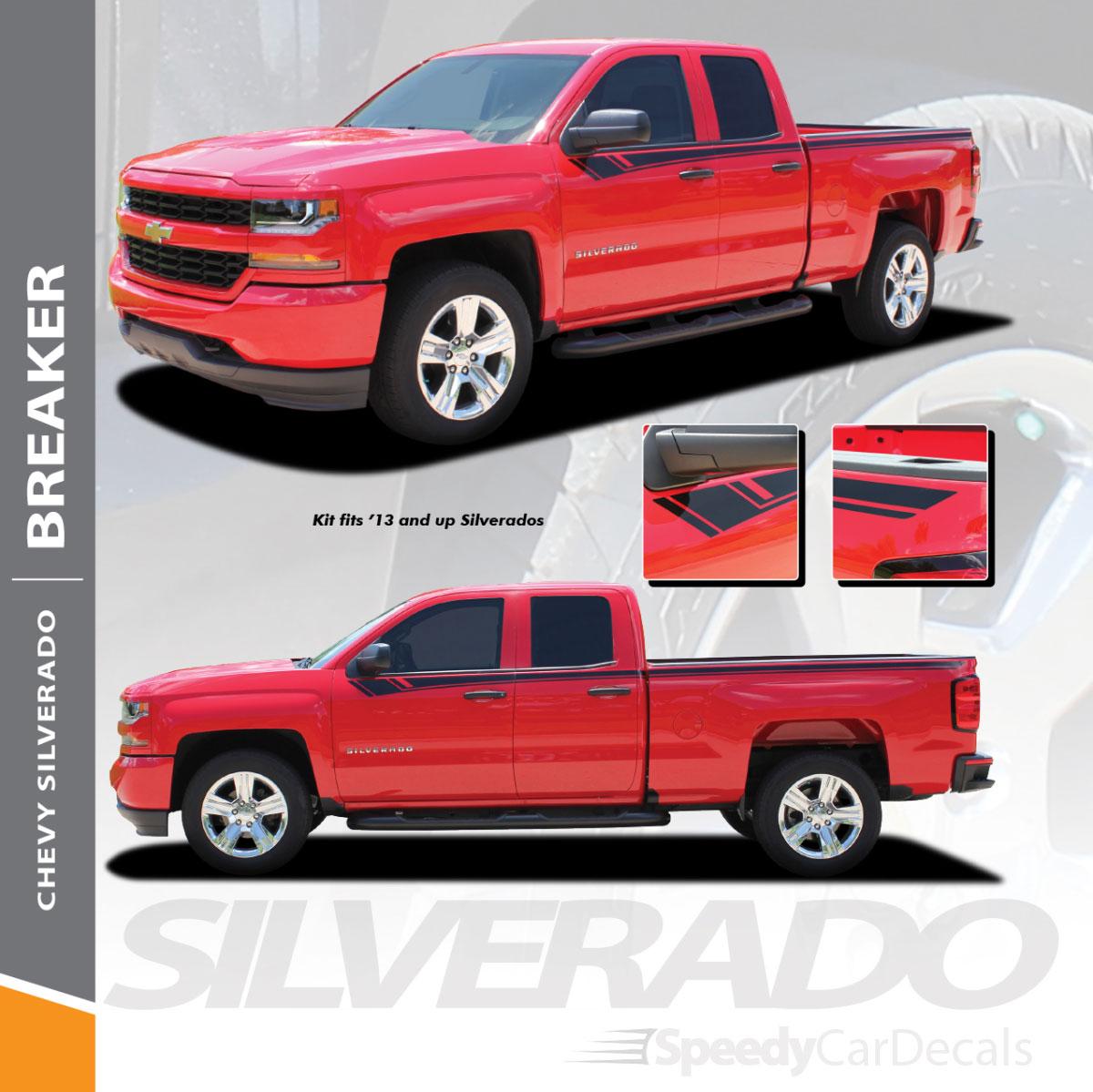 Chevy Silverado Upper Graphics Kit Breaker 3m 2014 2018 Wet And Dry